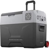 Alpicool CX40 Portable Refrigerator 42 Quart(40 Liter) with Trolley Vehicle, Car, Truck, RV, Boat, Mini Fridge Freezer for Driving, Travel, Fishing, Outdoor -12/24V DC