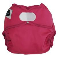 Imagine Baby Products Newborn Hook and Loop Diaper Cover, Raspberry