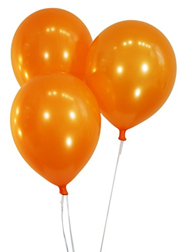 "Creative Balloons 12"" Latex Balloons - Pack of 72 Pieces - Metallic Orange"