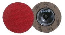 "Shark 12622 Industries 2"" Red Ceramic Grinding Discs Rolock 36 Grit-25 Pk"