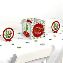 Big Dot of Happiness Merry Cactus - Christmas Cactus Party Centerpiece and Table Decoration Kit