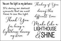 Stamps for Card-Making and Scrapbooking Supplies by The Stamps of Life - Thank You Optimistic Sayings4Lighthouse