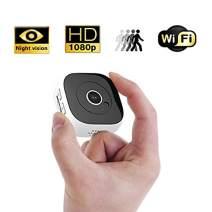 Mini Hidden Camera WiFi, 1080P DV DC Portable Mini Surveillance Camera with Night Vision and Multi Function, Portable Body Camera with Loop Recording for Indoor Outdoor Use-White