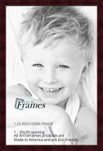 ArtToFrames 20x30 inch Dark Cherry Stain on Hard Maple Wood Picture Frame, WOM0066-71206-YCHY-20x30