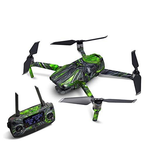 Emerald Abstract Decal Kit for DJI Mavic 2 Drone - Includes 1 x Drone/Battery Skin + Controller Skin
