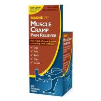 MagniLife Muscle Cramp Pain Reliever Tablets Fast-Acting Homeopathic Relief of Pain, Stiffness, Discomfort in Legs, Feet, Back, Hips, Joints - All-Natural Magnesium, Potassium & More - 125 Tablets