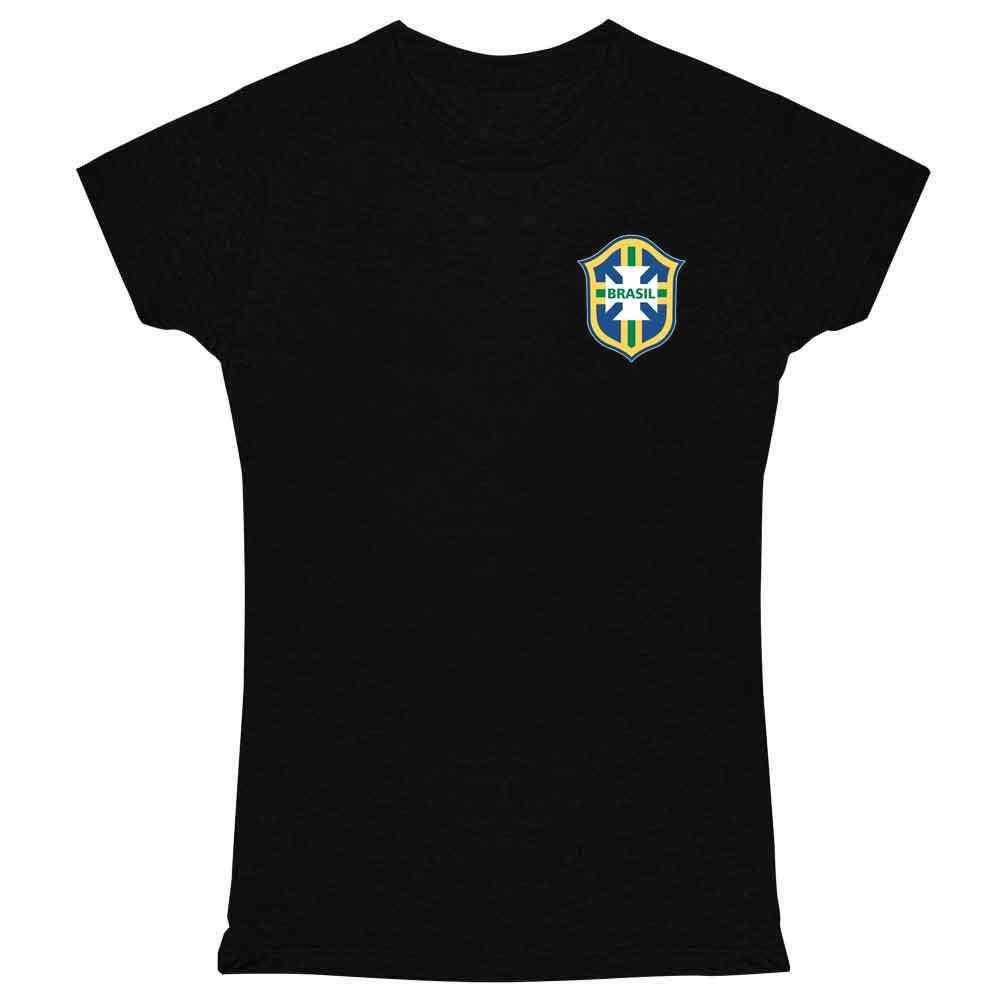 Brazil Futbol Soccer Retro National Team Football Graphic Tee T Shirt for Women
