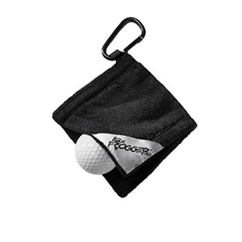 """Frogger Golf Amphibian Wet/Dry Golf Ball Towel (4"""" x 4"""")"""