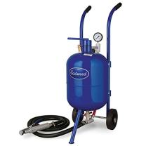 Eastwood 50 Lbs Portable Air Pressure Abrasive Blaster Tank with Blast Hose & Pressure Gauge to Remove Rust and Paint Faster