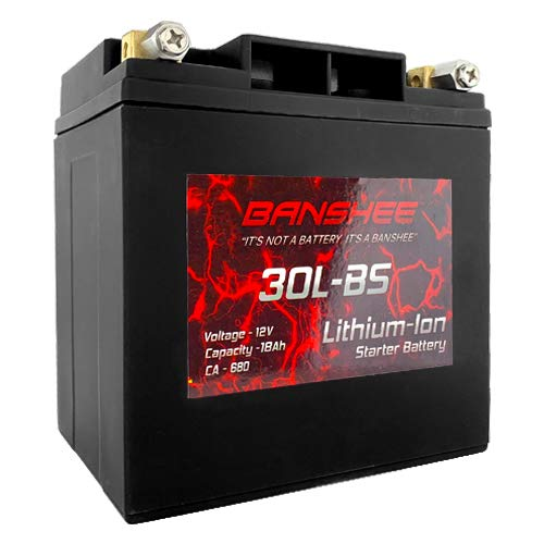 Lithium Ion Battery Replaces YTX30L-BS Harley Davidson Built In Volt Meter