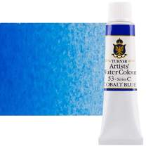 Turner Concentrated Professional Artists' Watercolor Paint 15ml Tube - Cobalt Blue