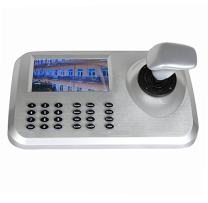 "3D IP Camera Joystick Network PTZ Keyboard Controller for High Speed CCTV PTZ Camera, 5.0"" with LED HD Screen"