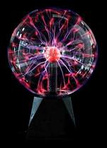 "PowerTRC Non Battery Powered Lightning Plasma Globe | 8"" x 12'' 