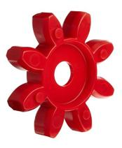 Lovejoy 62071 Size CJ 38 Curved Jaw Coupling Spider, Urethane - 98 Shore A, Red, 2875 in-lbs Nominal Torque, 7100 rpm Max Rotational Speed