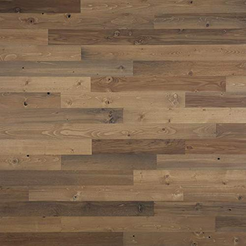 """Timberchic River Reclaimed Wooden Wall Planks - Simple Peel and Stick Application. (3"""" Wide - 20 Sq. Ft, Sandy Beach)"""