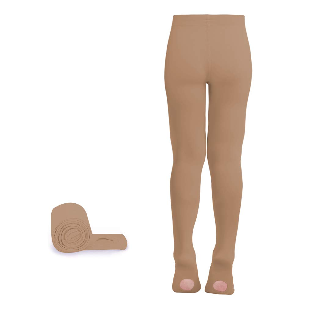 Jane Shine Transition Convertible Ballet Dance Tights Ultra-soft for Girls/Women Hold &Stretch 1 Pair