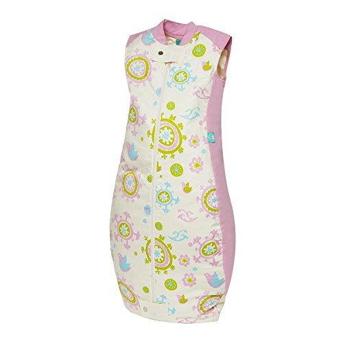 ergoPouch 2.5 TOG Organic Cotton Quilt Sleeping Bag, Pink Bird, 12-36 Months