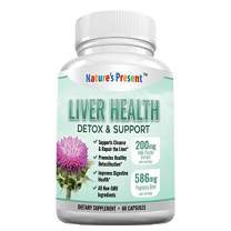 Liver Cleanse Detox & Support Supplement - Ultimate detoxifier & Energy Regenerator - 22 Herbs: Milk Thistle Extract, Artichoke Extract, Beet Root, Yarrow, Jujube, Chicory and More-60 Capsules