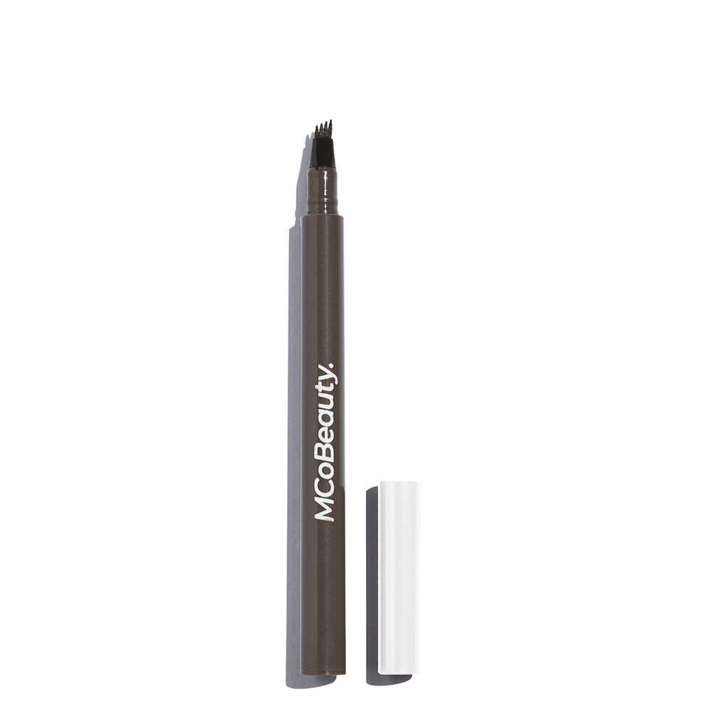 MCoBeauty Tattoo Eyebrow Microblading Ink Pen - Micro-fork Tip Applicator for Hair-like Defined Brows   Medium Dark