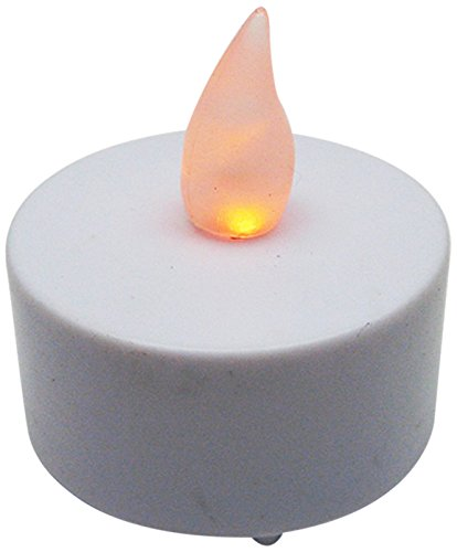 Bluedot Trading LED Battery Operated Flameless Flickering Tea Lights, Amber, 12-Pack