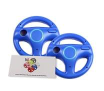 GH 2 Pack Mario Cart 8 Games Wheel for Nintendo Wii, Racing Wheel for Wii U Remote Plus Controller - Kinopio Blue (6 Colors Available)