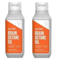 Bulletproof Brain Octane Oil Bundle, 100% C8 MCT Oil, Fat Burning, Brain Boosting, Keto-Friendly, Paleo, Vegan, Organic Non-GMO, Rainforest-Alliance Certified, (2 Pack 16oz)
