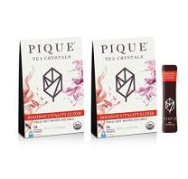 Pique Tea Organic Rooibos Vitality Elixir - Immune Support, Gut Health, Calm - 14 Single Serve Sticks (Pack of 2)