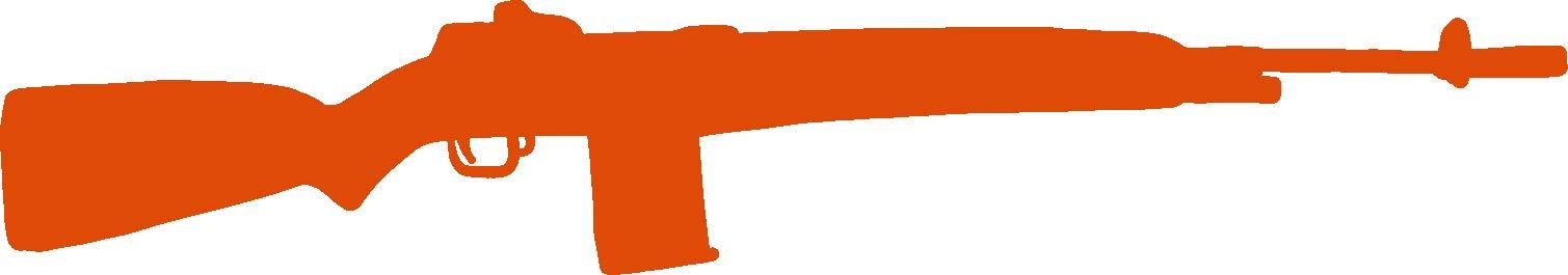 hBARSCI Rifle Vinyl Decal - 5 Inches - for Cars, Trucks, Windows, Laptops, Tablets, Outdoor-Grade 2.5mil Thick Vinyl - Orange
