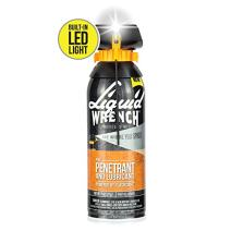 Liquid Wrench Pro Penetrant & Lubricant Powered by FlashSight Technology. Built-in LED Light. 11 oz Aerosol. Part No: LED411