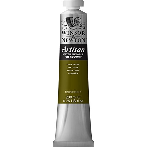 Winsor & Newton Artisan Water Mixable Oil Colour Paint, 200ml Tube, Olive Green