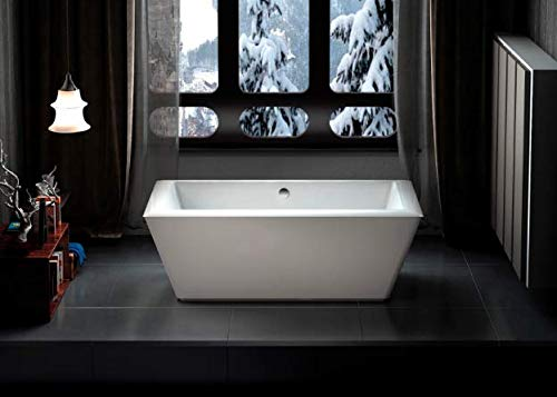 "Carver Tubs - Journey 71"" Freestanding Soaking Tub - 71""L x 32""W x 24""H - White Acrylic (Chrome Drain/Overflow)"