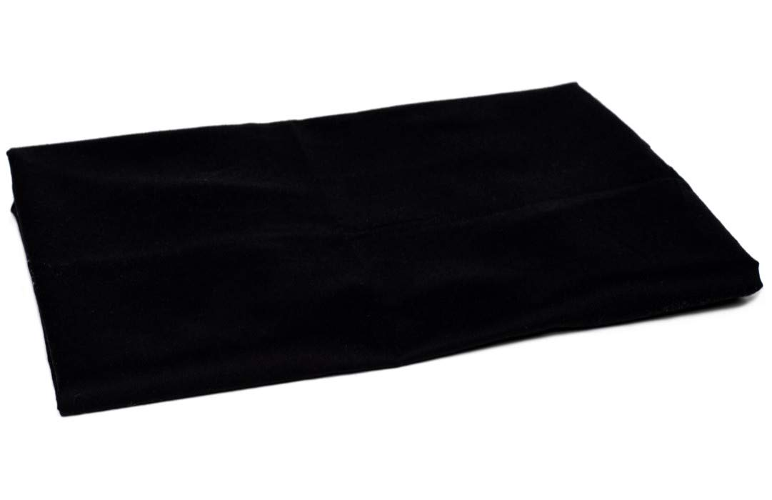 American Pillowcase King/Cal King Flat Sheet Only - 100% Brushed Microfiber - Pieces Sold Separately for Set Guarantee (Black)