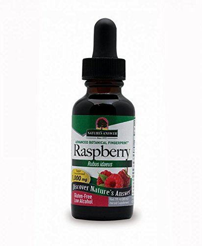 Nature's Answer Raspberry Leaf with Organic Alcohol, 1-Fluid Ounce