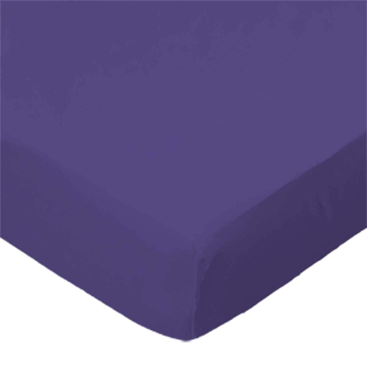 SheetWorld Extra Deep Fitted Portable / Mini Crib Sheet - Purple Jersey Knit - Made In USA