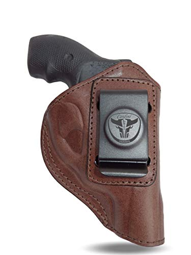 Cardini Leather USA - IWB Leather Holster - Concealed Carry - for Ruger LCR, LCRx and Other Snub Nose Revolvers
