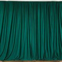 AK TRADING CO. 10 feet x 10 feet Polyester Backdrop Drapes Curtains Panels with Rod Pockets - Wedding Ceremony Party Home Window Decorations - Hunter Green