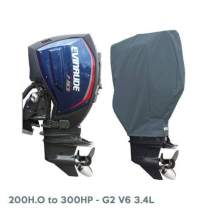 Oceansouth Custom Fit Storage Covers for Evinrude G2 200-300Hp Outboards