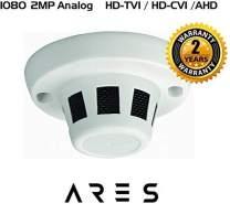 Ares Vision 2MP TVI/CVI/AHD/CVBS Hidden Covert Smoke Detector CCTV Camera (BNC) (2 MP)