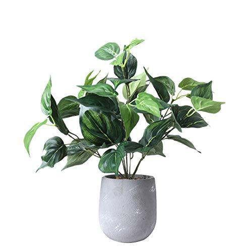Zebery Artificial Bonsai Green Potted Desktop Fake Plants Home Decoration with Vase Set