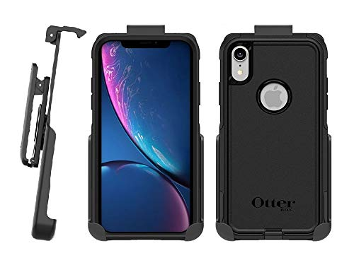 BELTRON Belt Clip Holster Compatible with OtterBox Commuter - iPhone Xs Max - (case not Included) - Features: Secure Fit, Quick Release Latch, Durable Rotating Belt Clip & Built-in Kickstand