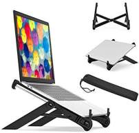 Magichold Portable Laptop Tablet Stand Adjustable Mount Riser fold able Compatible with Any Size Laptop or Tablet iPad iPAD Pro 12.9 (Black K7)