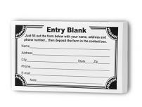Marketing Holders Contest Entry Forms, 100 Forms Per Pad Perfect for Ballot Box Contest Give Aways and more Star Burst Border Qty 6 Pads
