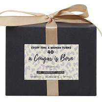 40th Birthday Gift - Citrus Candle - Wrapped Lime, Grapefruit, Lemon Soy Scented Candle - Playful Birthday Gift for Women