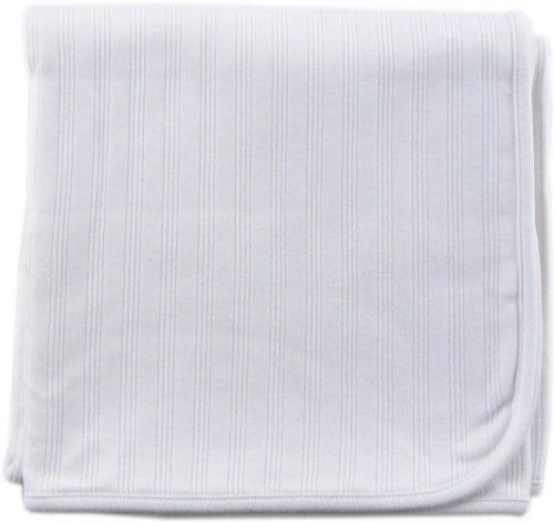 Touched by Nature Unisex Baby Organic Cotton Swaddle, Receiving and Multi-purpose Blanket, White, One Size