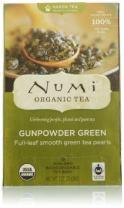 Numi Organic Gunpowder Green Tea,18 Count ( Case of 6 )