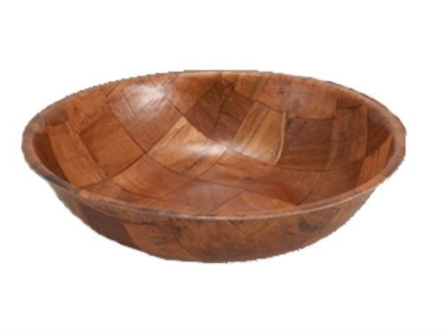 Winco WWB-18 Wooden Woven Salad Bowl, 18-Inch, SET OF 4