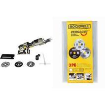 Rockwell RK3440K VersaCut Circular Saw with VersaCut 3-piece Circular Saw Blade Set