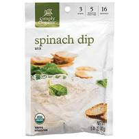 Simply Organic Spinach Dip Mix, Certified Organic, Gluten-Free | 1.41 oz | Pack of 12