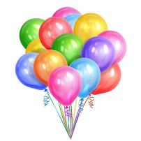 """Peace&Joy 12"""" Latex Balloons 100 Pack (Assorted Colors)"""