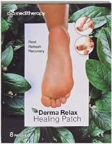 Meditherapy Derma Relax Healing Patch, Excellent Cooling Effect and Long-lasting Freshness for Relieving Fatigue (8pcs)